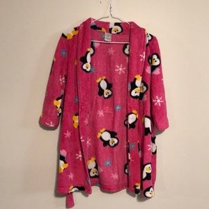 Kids pink bathrobe